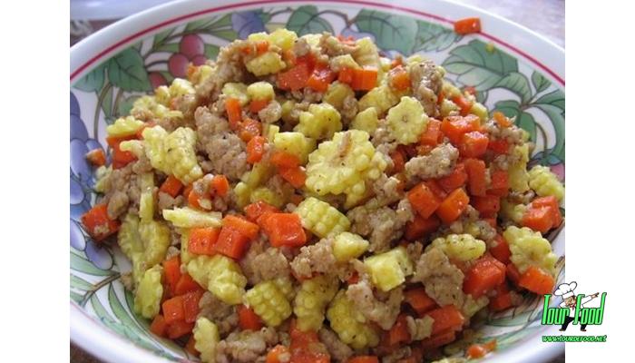 ข้าวโพดอ่อนผัดหมูสับ ทีเด็ดผัดผัก ทานได้ทุกวัน