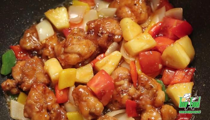 ผัดเปรี้ยวหวานไก่ทอด เมนูทานง่าย อร่อยครบรส